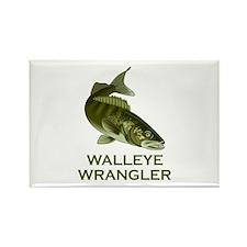 Walleye Wrangler Rectangle Magnet