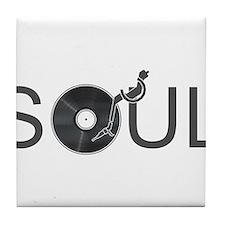 Soul Music Vinyl Tile Coaster