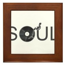 Soul Music Vinyl Framed Tile