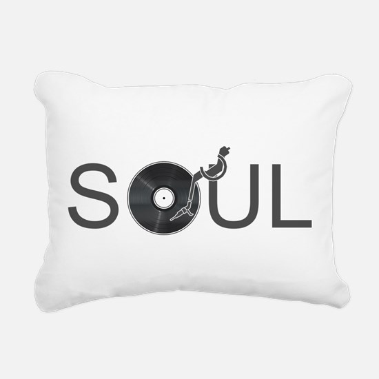 Soul Music Vinyl Rectangular Canvas Pillow