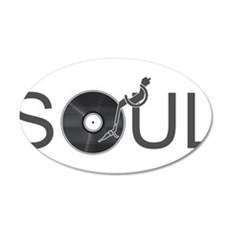 Soul Music Vinyl 20x12 Oval Wall Decal
