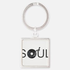 Soul Music Vinyl Square Keychain