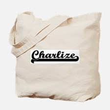 Black jersey: Charlize Tote Bag