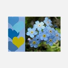 Forget-Me-Not Rectangle Magnet