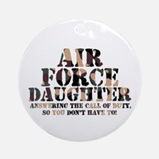 AF Daughter Answering Call Ornament (Round)