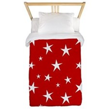 Red with stars Twin Duvet