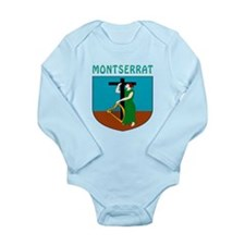 Montserrat Coat of arms Long Sleeve Infant Bodysui