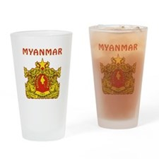 Myanmar Coat of arms Drinking Glass