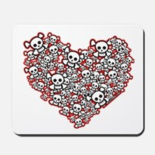 Pirate Skull Heart Mousepad