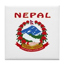 NEPAL Coat of arms Tile Coaster