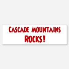 Cascade Mountains Rocks Bumper Bumper Bumper Sticker