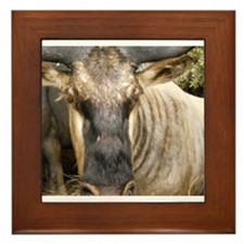 Wildebeest Framed Tile