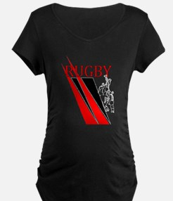 Rugby Line Out Red Black T-Shirt