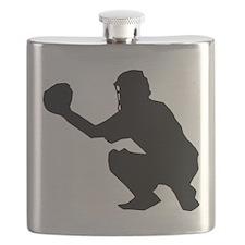 Baseball Catcher Flask