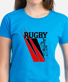 Rugby Line Out Red Black Tee