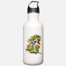 Baseball Pitcher Oil Painting Water Bottle