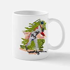 Baseball Pitcher Oil Painting Mug