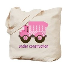 Under Construction Pink Truck Tote Bag