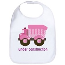 Under Construction Pink Truck Bib
