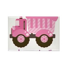 Under Construction Pink Truck Rectangle Magnet