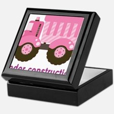 Under Construction Pink Truck Keepsake Box