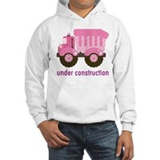Under Construction Pink Truck Hoodie