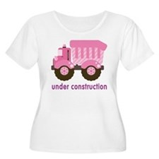 Under Construction Pink Truck T-Shirt