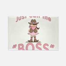 Cowgirl Call Me Boss Rectangle Magnet
