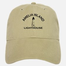 Amelia Island - Lighthouse Design. Baseball Baseball Cap
