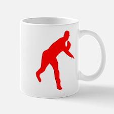 Red Baseball Pitcher Shadow Mug