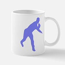 Blue Baseball Pitcher Shadow Mug