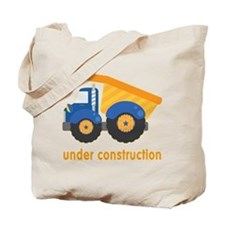 Under Construction Blue Truck Tote Bag