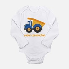 Under Construction Blue Truck Long Sleeve Infant B