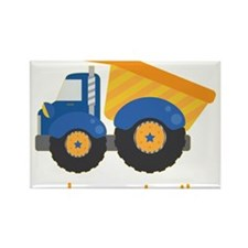 Under Construction Blue Truck Rectangle Magnet