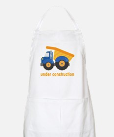 Under Construction Blue Truck Apron