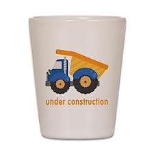 Under Construction Blue Truck Shot Glass