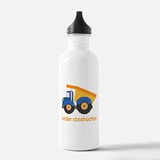 Under Construction Blue Truck Water Bottle