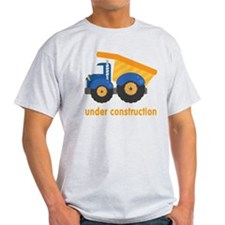Under Construction Blue Truck T-Shirt
