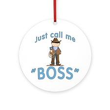 Cowboy Call Me BOSS Ornament (Round)
