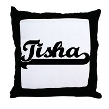 Black jersey: Tisha Throw Pillow