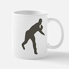 Grey Baseball Pitcher Shadow Mug