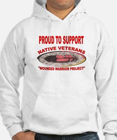 PROUD TO SUPPORT NATIVE VETERANS-WOUNDED WARRIOR H