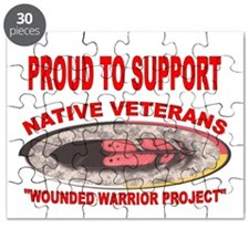 PROUD TO SUPPORT NATIVE VETERANS-WOUNDED WARRIOR P