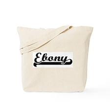 Black jersey: Ebony Tote Bag
