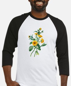 Marigold Drawn From Nature Baseball Jersey