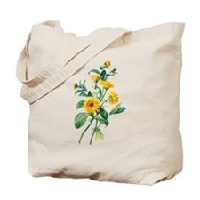 Marigold Drawn From Nature Tote Bag