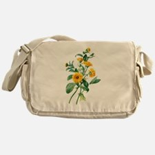 Marigold Drawn From Nature Messenger Bag