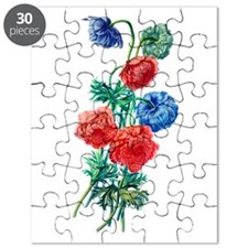 Poppy Anemone Drawn From Nature Puzzle