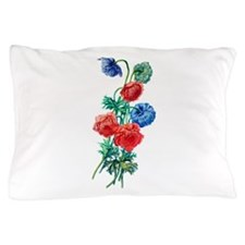 Poppy Anemone Drawn From Nature Pillow Case