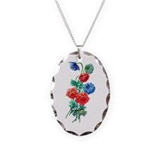 Poppy Anemone Drawn From Nature Necklace